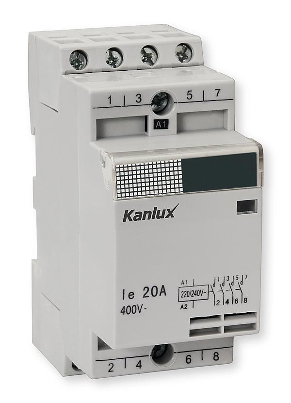 Rys. 3. Stycznik JVC2-20/4 o prądzie obciążenia rezystancyjnego do 20 A (8 kW)