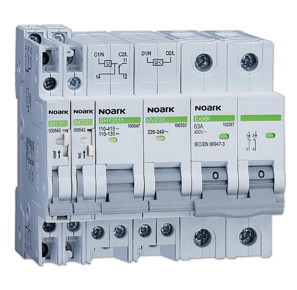 Rys. 4.  Rozłączniki izolacyjne Ex9BI łączą funkcję  aparatu manewrowego oraz funkcję izolacyjną. Dodatkowo można je  wyposażyć w szereg  akcesoriów