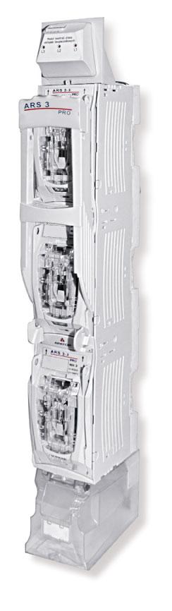 Rys. 1.  Rozłącznik izolacyjny bezpiecznikowy listwowy ARS pro firmy Apator