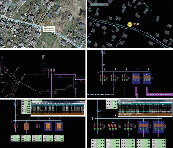 Rys. 5. Prezentacja systemu kontroli wkładek bezpiecznikowych z systemem SCADA