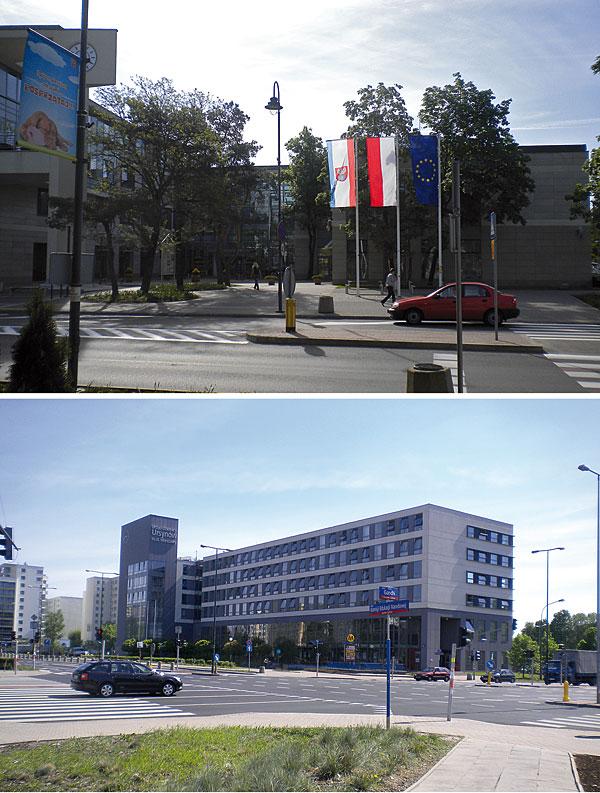 Ratusz w Legionowie (a) i ratusz na warszawskim Ursynowie (b) – oba wyposażone w system BMS Dupline