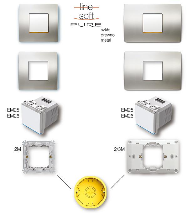 Rys. 6. Montaż ściemniacza Touch w puszce elektroinstalacyjnej