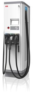 Stacja do ładowania DC Terra 53 CJG firmy ABB. Umożliwia ultraszybkie (15-30 minut) ładowanie wszystkich aktualnie dostępnych pojazdów elektrycznych, dzięki zastosowaniu trzech różnych standardów ładowania – dwóch na prąd stały (DC): CCS o mocy 50 kW i CHAdeMO o mocy 50 kW oraz jednego na prąd przemienny (AC) – Typ 2 o mocy 43 kW. Stacja jest podłączone do sieci Internet i umożliwia zdalne monitorowanie, aktualizowanie oraz serwisowanie sprzętu i oprogramowania