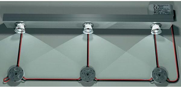 Schemat połączenia szeregowego LED za pomocą złącza terminaLED