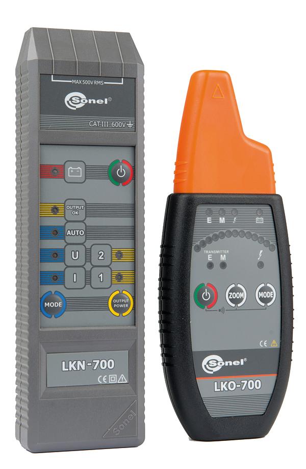 Rys. 2. Lokalizator LKZ-700 firmy Sonel - pozwala określić zarówno przebieg trasy przewodów, jak również miejsca występujących w nich uszkodzeń (przerwa, zwarcie)