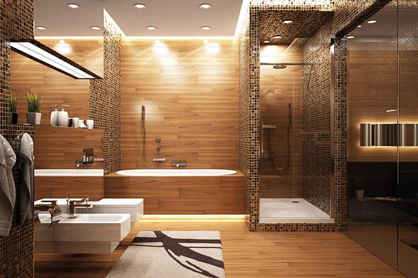 Rys. 1. Przykład aranżacji świetlnej w łazience z wykorzystaniem taśm LED firmy EcoEnergy
