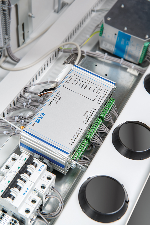 Sterownik umożliwia pobieranie, przetwarzanie, przechowywanie oraz przesyłanie danych