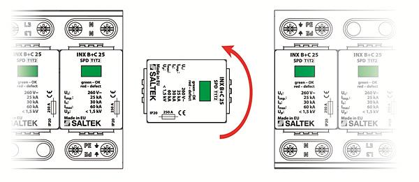 Rys. 3. Zasada montażu ogranicznika INX-B+C 25