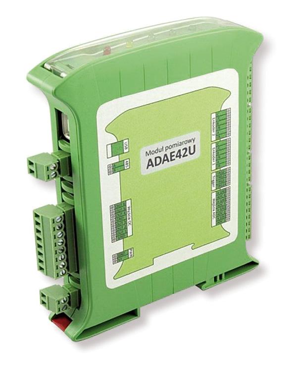 Rys. 2.  Moduł pomiarowy ADAE42U umożliwia  podłączenie kilku czujników