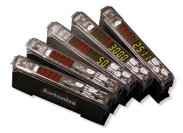 Rys. 4. Wzmacniacz światłowodowy z wyświetlaczem – seria BF5 firmy Autonics
