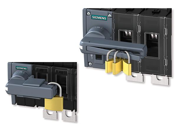 Blokowanie rozłącznika kłódkami