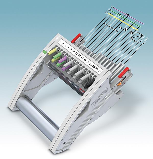 Rys. 6. Różne długości pinów styków umożliwiają uzyskanie w modułowym wtykowym systemie pomiarowym dowolnej kolejności łączenia