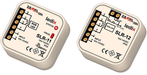 Rys. 4. Sterowniki RGB SLR-11 i SLR-12