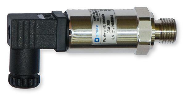 Przetwornik CCA-200 firmy Simex do pomiaru ciśnienia mediów czystych, nieagresywnych, w warunkach przemysłowych