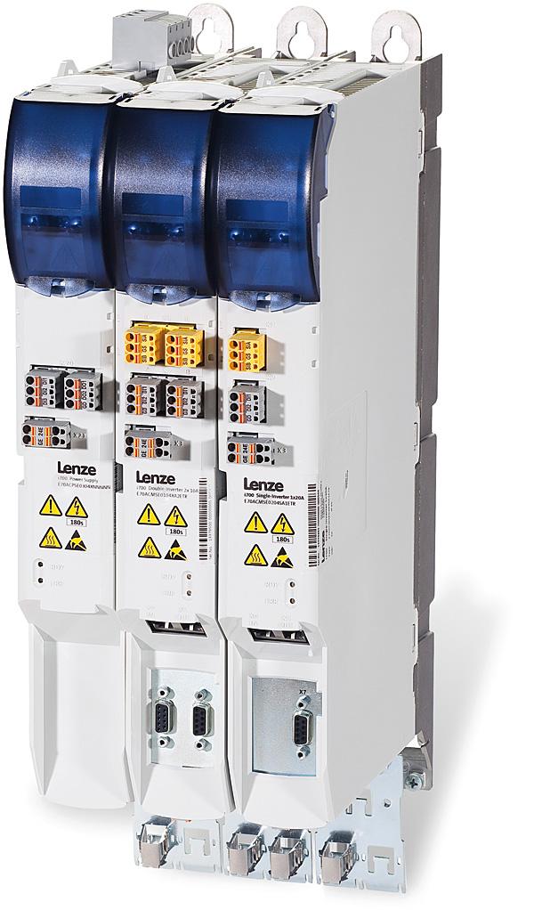 Serwo przemienniki częstotliwości Lenze serii i700  są dedykowane do aplikacji wieloosiowych, w szczególności  do maszyn manipulacyjnych, pakujących oraz robotyki