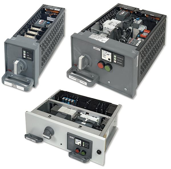 Rys. 2. Moduły wysuwne: a – moduł wysuwny rozdzielnic MNS do 22 kW, b – moduł wysuwny rozdzielnic MNS do 30 kW, c – moduł wysuwny rozdzielnic MNS do 90 kW