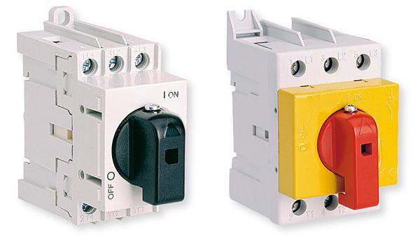 Rys. 1. Rozłączniki izolacyjne LAS 16A, 25A, 32A, 40A, 63A; LAS 80A, 100A, 160A