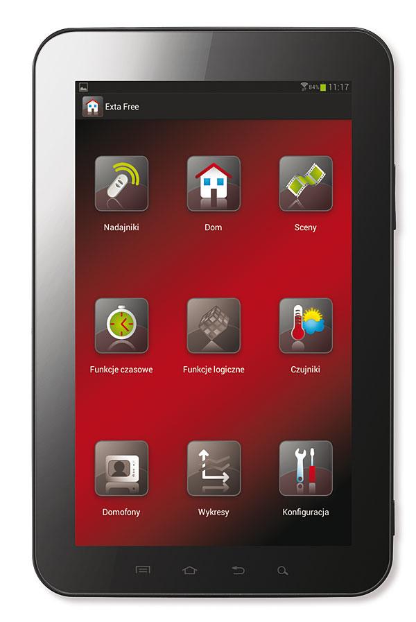 Rys. 2. Ekran aplikacji Exta Free na tablecie