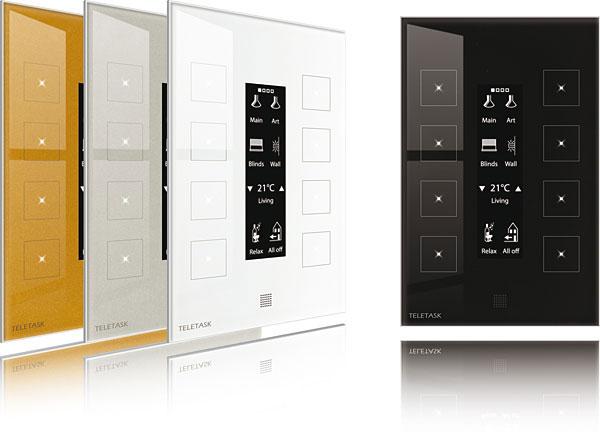 Rys. 5. wyświetlacz panelu Aurus-OLED może być dowolnie personalizowany za pomocą piktogramów oraz tekstów