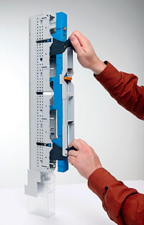 Rys. 4. Równoległe prowadzenie wkładek bezpiecznikowych w rozłączniku NSL-E3