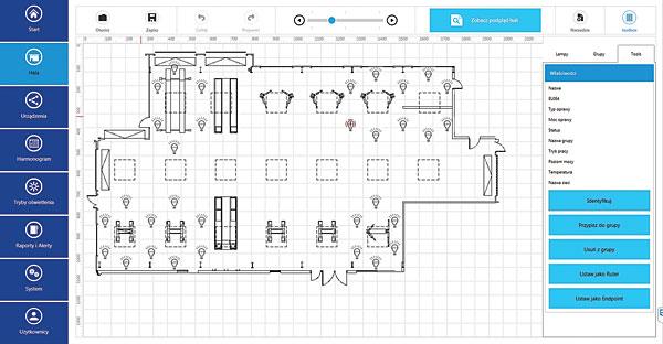 Rys. 2 Hala przemysłowa – interaktywny plan obiektu