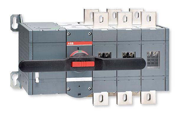 Przełącznik z napędem silnikowym typu OTM1250E3C230C